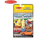 Melissa & Doug On the Go Water Wow! Vehicles (Reusable Water-Reveal Activity Pad, Chunky-Size Water Pen)