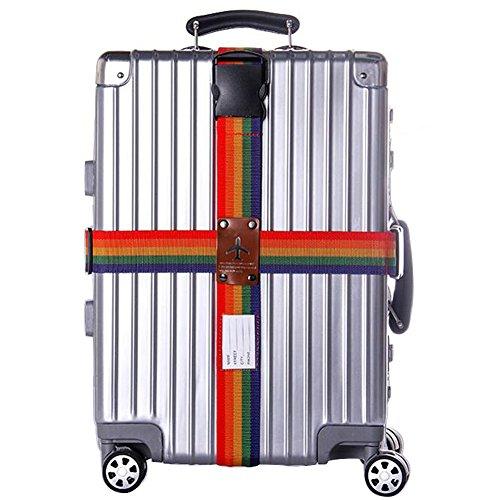 H.W.T Sangle de Bagages, Motif Croix Réglable Amovible pour Valise Baggage Sac