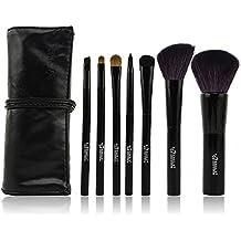 LeOx Kolinsky Sable Brochas de maquillaje de pelo natural, pack de 7 unidades
