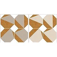 Fine Décor Wallpops wpk2312crema y gris Octagon corcho organizador formas, color blanco/blanco