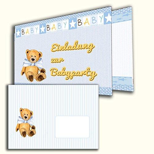 Einladungkarten Pullerparty 12 Stück mit Briefumschlägen