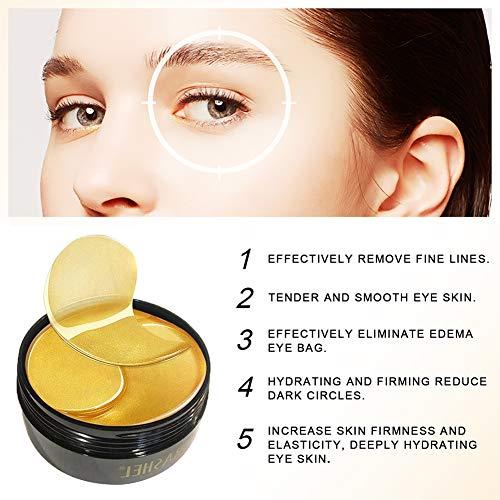 OYOTRIC 24K Gold Collagen Hydrogel Augenmaske Collagen Eye Pads, Augenbehandlungsmaske, für Puffy Eyes & Bags -