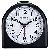 Technoline Geneva SD Negro - Despertador (Analógica, 85 x 30 x 85 mm, AA, Negro)