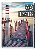Chäff-Timer mini A6 Kalender 2017/2018 [Leuchtturm] 18 Monate Juli 2017-Dezember 2018 - Terminkalender mit Wochenplaner - Organizer - Wochenkalender