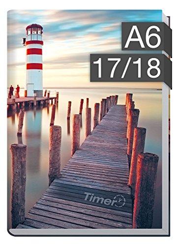 Chäff-Timer mini A6 Kalender 2017/2018 [Leuchtturm] 18 Monate Juli 2017-Dezember 2018 – Terminkalender mit Wochenplaner – Organizer – Wochenkalender