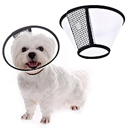 Plastic Pet Dog Cat Wound Healing Recovery Collar Puppy Protective Cone E-collar With Soft Edge