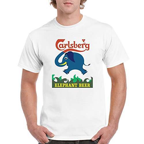 9f3275af9082a Runnering One Side CARLSBERG elephant beer drink New Men s T-shirt Adult  Medium White