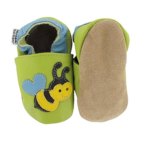 Hobea Unisex Krabbelschuhe Bee green Grün Babys rrUH8Z
