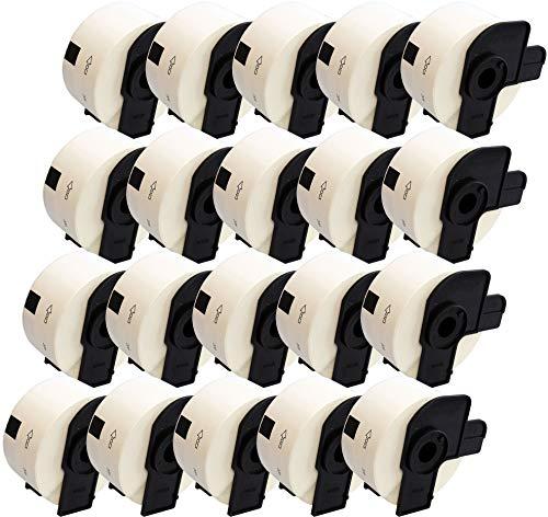 Prestige Cartridge 20x DK11208 38mm x 90mm Adress-Etiketten für Brother P-Touch QL-500 QL-550 QL-570 QL-700 QL-720 QL-800 QL-810 QL-820 QL-1100 QL-1110 Etikettendrucker (400 Etiketten pro Rolle)