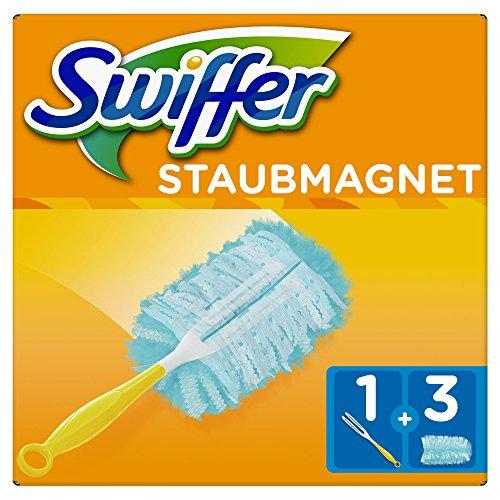 Swiffer Staubmagnet Set 1Griff plus 3Ersatztücher, 1er Pack (1 x 1 Stück) (Antistatik-tuch)