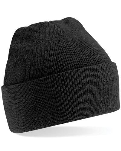 Haube Kostüm Teen - Beechfield Strickmütze, verschiedene Farben Schwarz