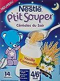 Nestlé Bébé P'tit Souper Céréales du Soir Vanille Camomille - Céréales du soir dès 4 - 6 Mois - Boîte 250g - Lot de 6