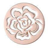 Morella Damen Coin 33 mm Blütenmeer rosegold