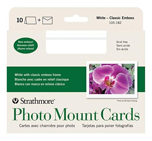 Strathmore str-105-250weiß Bilderrahmen (40Pack) Passepartout, klassisch, mit geprägtem Rand 10 Cards & Envelopes weiß (Mit Bilderrahmen Weißem Rand)