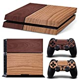 PlayStation 4 Designfolie Sticker Skin Set für Konsole + 2 Controller – Wood Mix II