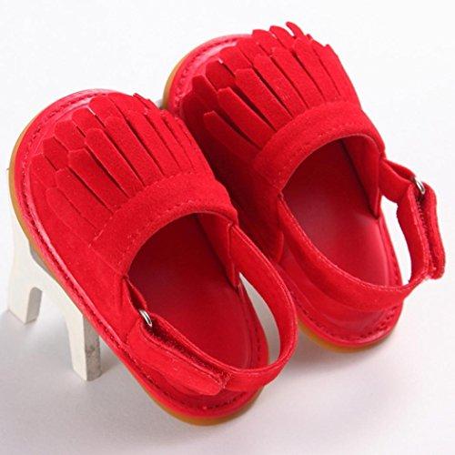 Culater® Ragazza del bambino Presepe Fiore morbida suola antiscivolo doposci sandali Scarpe Rosso