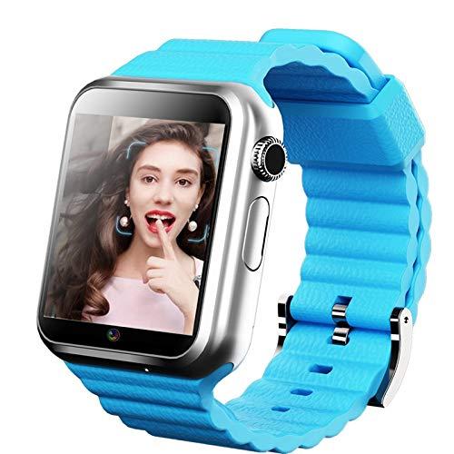 YF&FS Intelligente Uhr 3G Smartwatch Unterstützung GPS Beidou WiFi SIM TF Karte MP3 MP4 Player Kamera Schrittzähler wasserdicht, blau Sport Mp4 Watch Player