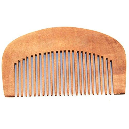 Sanwood Soin des Cheveux Bois Peigne à dents antistatique Tête de massage