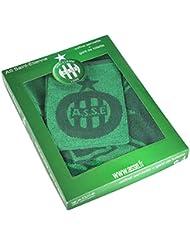 Coffret cadeau Serviette de bain 50 x 90 cm + gant de toilette ASSE - Collection officielle AS SAINT ETIENNE