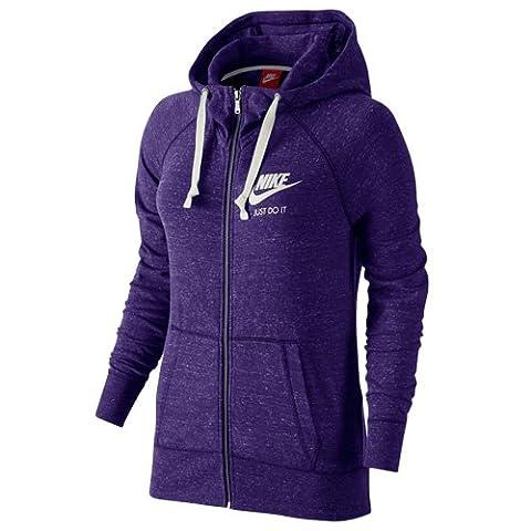 NIKE Gym Vintage Sweatshirt à capuche avec fermeture éclair sur toute la longueur M Court Violett/Weiß