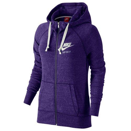 NIKE Gym Vintage Sweatshirt à capuche avec fermeture éclair sur toute la longueur Violet - Court Violett/Weiß
