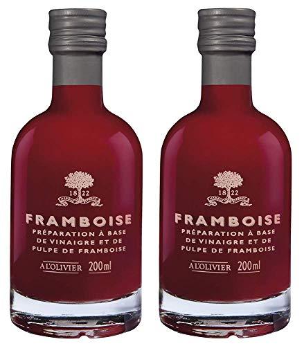 A l'Olivier - 2er-Set Fruchtessig mit Himbeere (Framboise) - 2 x 200 ml
