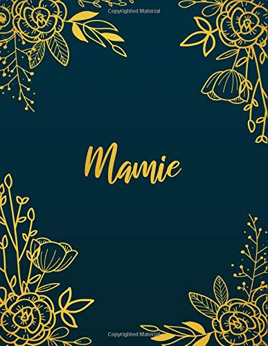 Mamie: Personalized Name Notebook/Journal  Perfect Gift For Women & Girls 100 Pages A4 -