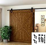 183 cm con Forma de Flor, Herraje para Puerta de Granero Corredera de madera, Puerta Deslizante, Herraje para Puertas Corredizas Interiores, Juego Com