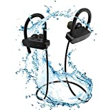 ProBeats 12 Hr Play Time 120 MAh Battery Wireless Bluetooth Earphones Headset Headphones -IPX7 Waterproof -Premium Sound With Bass, Noise Cancelling, Secure Fit Bluetooth V4.2 , 12 Hr Playtime   Built-in-Mic   Thunder Bass  Ergonomic-Designed Ear Hooks  