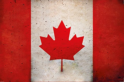 Länder Fahne - Canada - National Flagge Kanada schild aus blech, , retro