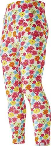 Playshoes Mädchen Legging lang Allover Blumen bunt, Mehrfarbig (original 900), (Herstellergröße: 110)