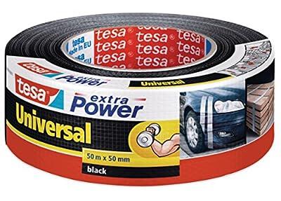 tesa Reparaturband extra Power Universal, schwarz, 50m x 50mm