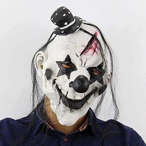 Scary Clown Maske Latex Maske Horror Gruselig Latex Clown Masken Kostüm Für Erwachsene Unisex Einheitsgröße Perfekt Für Fasching Karneval Halloween ()