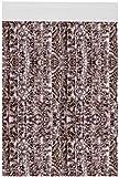 Flauschvorhang individuell kürzbar Auswahl: Meliert beige - braun 100 x 200 cm