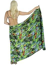 LA LEELA Pareo de Trajes de baño Ropa de Playa Envoltura Traje de baño Traje de baño Cubre a Las Mujeres Falda Pareo