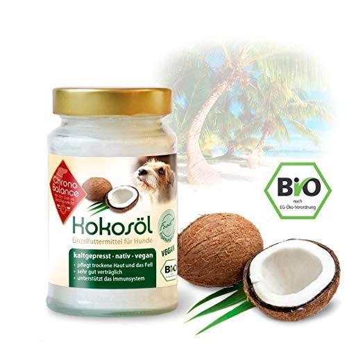 ChronoBalance® 400ml Bio Kokosöl für Hunde - natürliche Nahrungsergänzung - für Fellpflege und Hautpflege - vegan