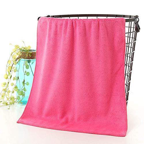 ZQBQY Mikrofaser saugfähiges Handtuch multifunktions Gesicht Towel trockenes Haar schönheitssalons Friseur spezielle Towel Baumwolle Bad accessories30 * 75 cm rosa