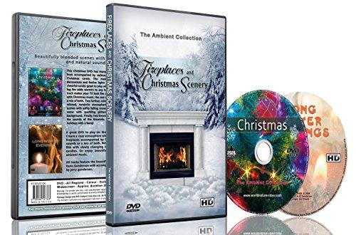 Kaminfeuer & Weihnachtskulisse - 2 DVD Set Kaminfeuer und Schnee und Weihnachtsdekorationen mit Hymnen und Musik (Ein Lied Von Eis Und Feuer Kunst)