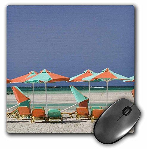 Danita Delimont - Greek Islands - GREECE, CRETE, Hania, Elafonisi Beach Umbrellas - EU12 WBI1916 - Walter Bibikow - MousePad (mp_81905_1)