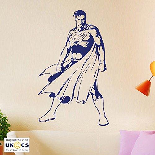 (Super Man Film Superheld Jungen-Schlafzimmer-Wand-Kunst-Aufkleber-Abziehbilder Vinyl-Hauptraum Schlafzimmer Junge Mädchen Kinder Erwachsene Heim Wohnzimmer Zitate Küche Badezimmer Wandaufkleber)
