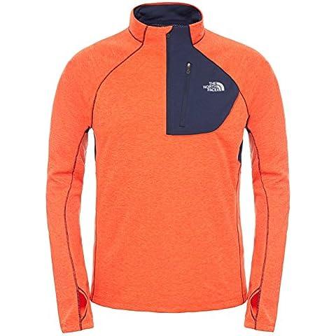 North Face M Impulse Active 1/4 Zip - Camiseta para hombre, color naranja / azul, talla S