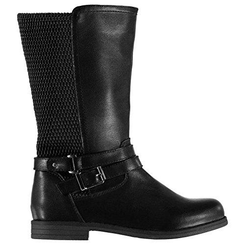 MISO Kinder Ruby Hoch Boots Kids Kniehohe Stiefel Schwarz 1 (33) (Kinder Reiten Stiefel)