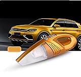 STTS Four-en-One Multi-Fonction Humide Et Sec à Double Usage Haute Puissance Aspirateur Portable Pompe à Vide Test de la Pression des Pneus,Or...