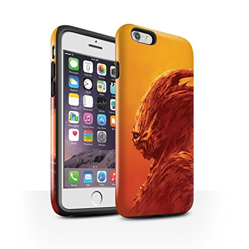 Offiziell Chris Cold Hülle / Glanz Harten Stoßfest Case für Apple iPhone 6S / Vampirfledermaus Muster / Wilden Kreaturen Kollektion Raubtier/Jäger