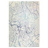 artboxONE Poster 45x30 cm Städte Dijon Frankreich Blue