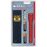 Mag-Lite M2A03H Mini Maglite AA Taschenlampe 14,5 cm rot inkl. 2 Mignon-Batterien und Nylonholster
