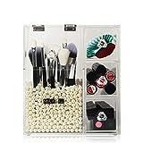 FYN Acryl-Kosmetik-Aufbewahrungsbox, Transparente Make-up-Pinsel Speicherregal Schublade Desktop-Veredelung Eimer Lippenstift-Puff-Box Großen Staub