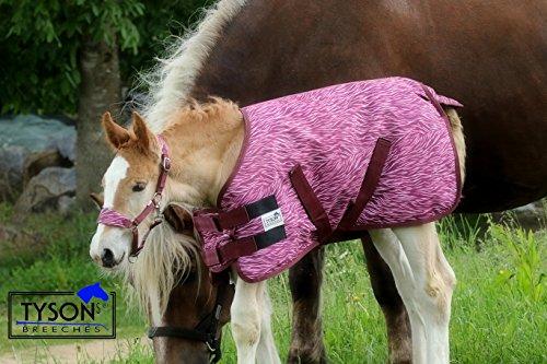 Tysons Breeches  1200 D Fohlendecke 55 65 cm Kaltblut Warmblut Blau o Pink Fohlen Regendecke extra Brustlatz NUR Klett !!! (55 cm, Pink)