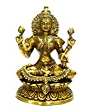 "Idol Collections Brass Goddess Lakshmi Statue, Height 9"" I Home decor"