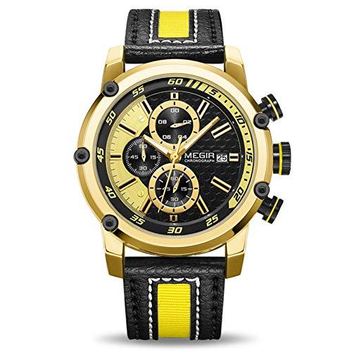 SBDONGJX Creative Chronographe Sport Hommes Montre De Luxe Montres À Quartz Hommes Horloge Armée Militaire Montres Heure Relogio Masculino